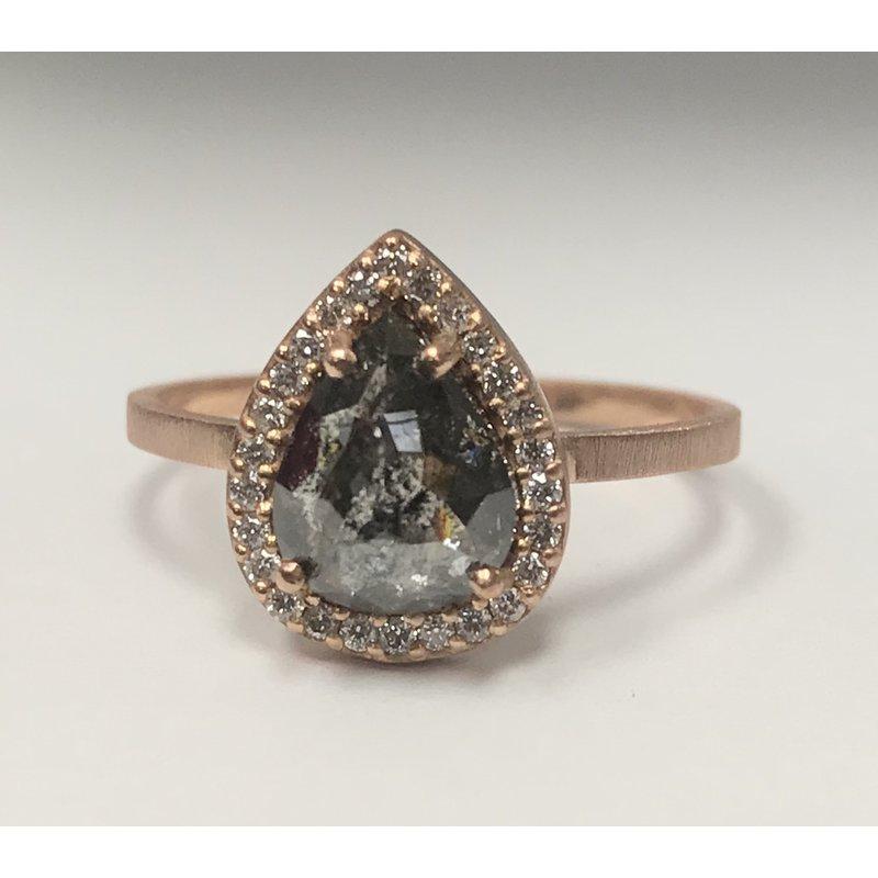 Antique, Estate & Consignment Alexis Russel Salt & Pepper Diamond Ring
