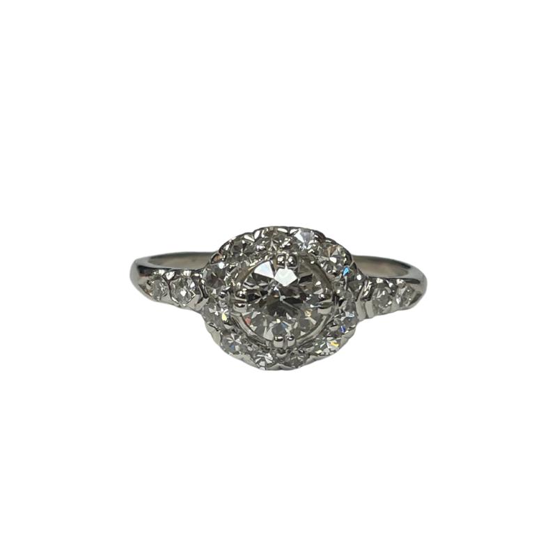 Antique, Estate & Consignment Platinum Halo Old European Cut Ring