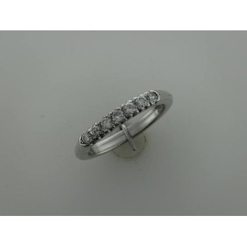 14k Diamond Band - Adjustable Shank