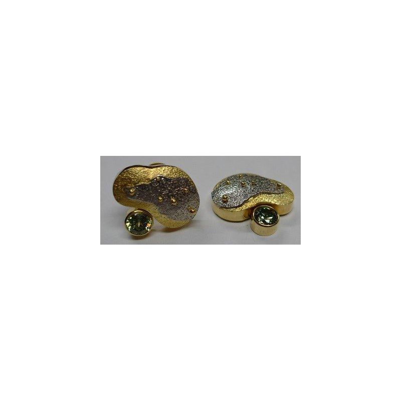Richard Kimball Demantoid Garnet Earrings