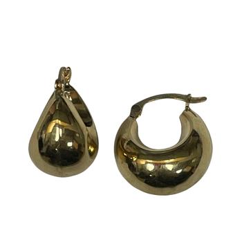 Gold Hoop Bubble Earrings