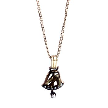 Bell & Bird Pearl Necklace