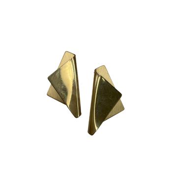 Foldover Gold Earrings