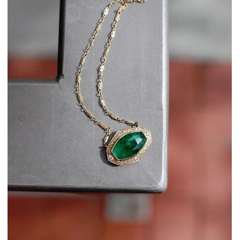 One of a Kind Brazilian Emerald Necklace