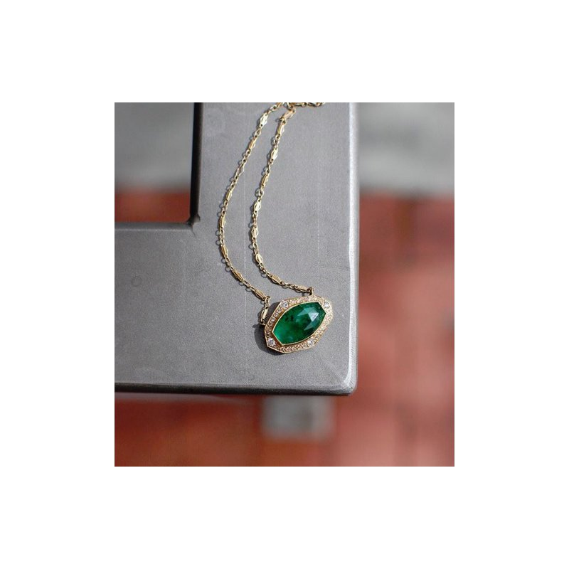 Just Jules One of a Kind Brazilian Emerald Necklace