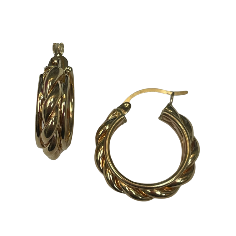Antique, Estate & Consignment Gold Twist Hoop Earring
