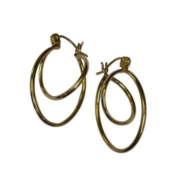 Double Twist Gold Earring