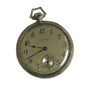 14k White Gold Howard Pocket Watch