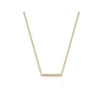 Mini Diamond Bar Necklace