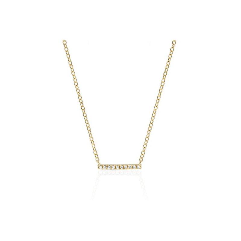 EF Collection Mini Diamond Bar Necklace