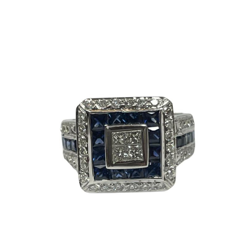 Antique, Estate & Consignment Diamond & Sapphire Halo Ring