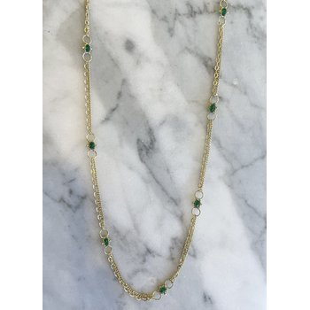 Emerald Whisper Chain Necklace