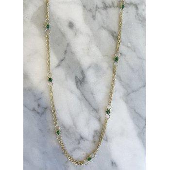 Emerald Whisper Chain Necklace