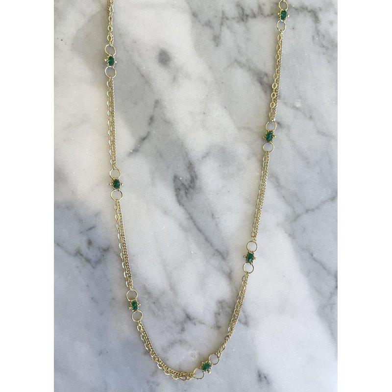 Amali Emerald Whisper Chain Necklace