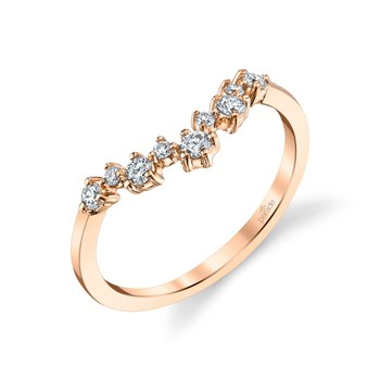 Lumiere Bridal V Diamond Scatter Band LMBD4169A