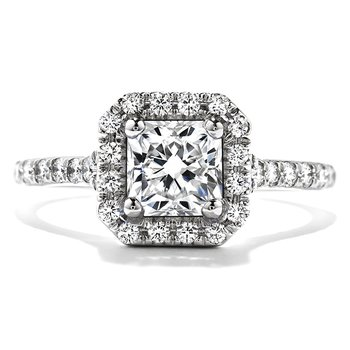 Platinum Transcend Hearts on Fire Dream Engagement Ring