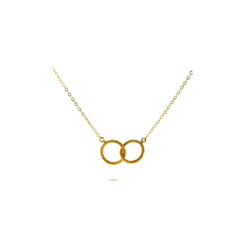 Amali Gold Interlocking Circle Necklace