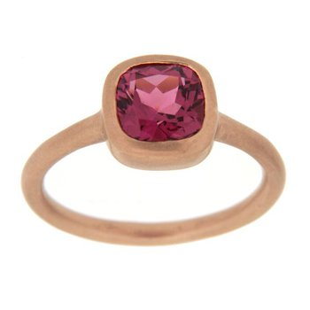 Pink Tourmaline Rose Gold Ring