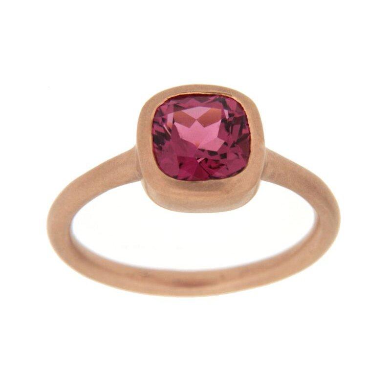 Tate Jewels Pink Tourmaline Rose Gold Ring