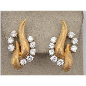 Non-Pierced Gold & Diamond Earrings