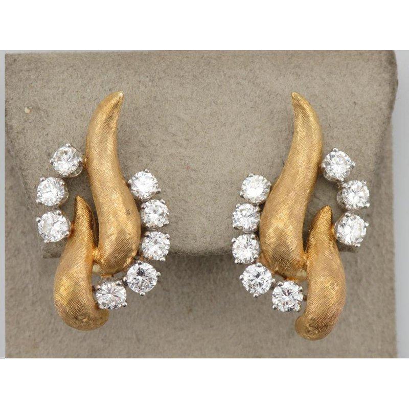 Antique, Estate & Consignment Non-Pierced Gold & Diamond Earrings