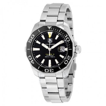 Aquaracer Calibre 5 Automatic Black Dial