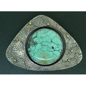 Triangular Turquoise Belt Buckle