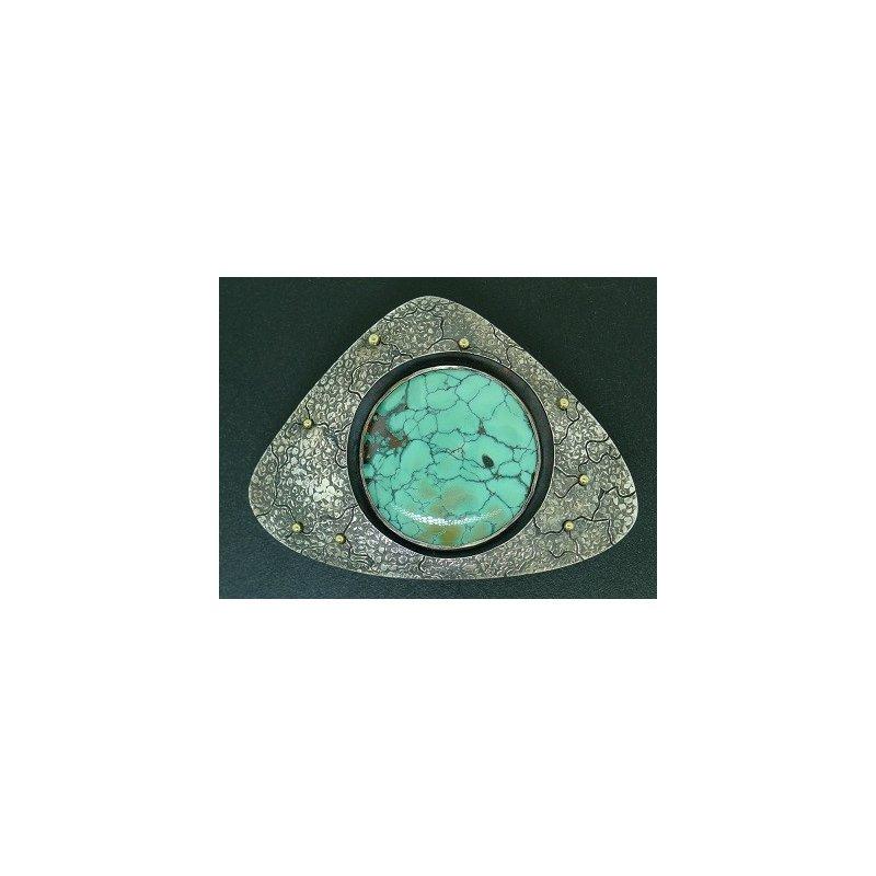 Richard Kimball Triangular Turquoise Belt Buckle