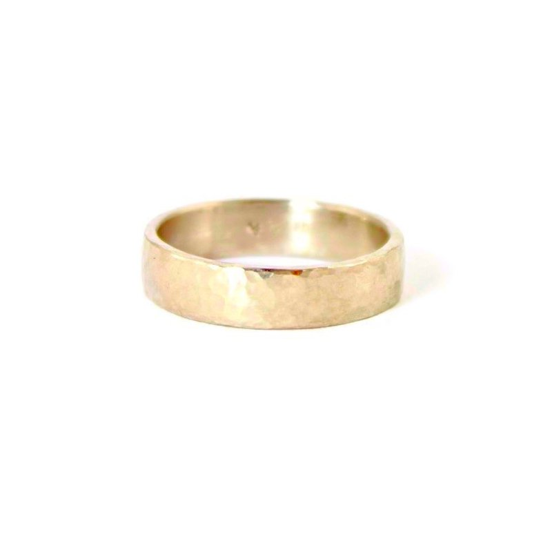 Yasuko Azuma Jewelry 5mm Hammered Wedding Band