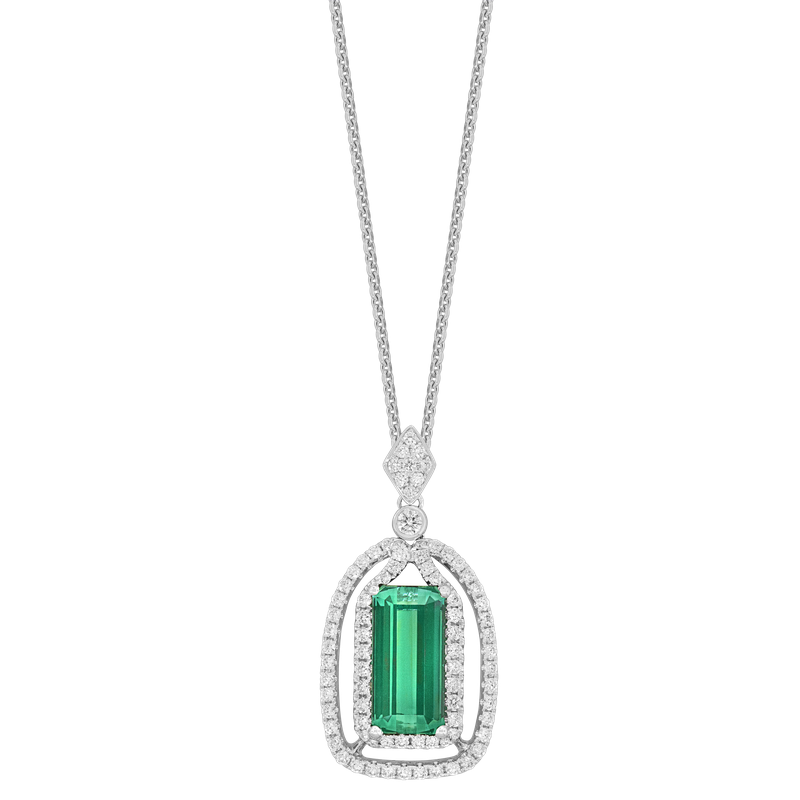 Spark Creations Tourmaline & Diamond Necklace