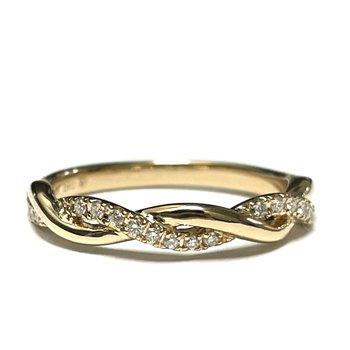 Gold Diamond Twist Band