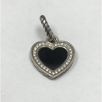 Pre-Owned David Yurman Onyx & Diamond Heart Pendant