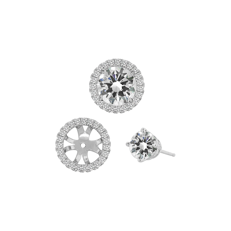 Spark Creations Diamond Halo Earring Jackets - 1.00 carat