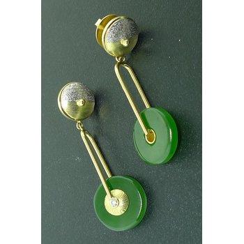 Nephrite & Pearl Earrings