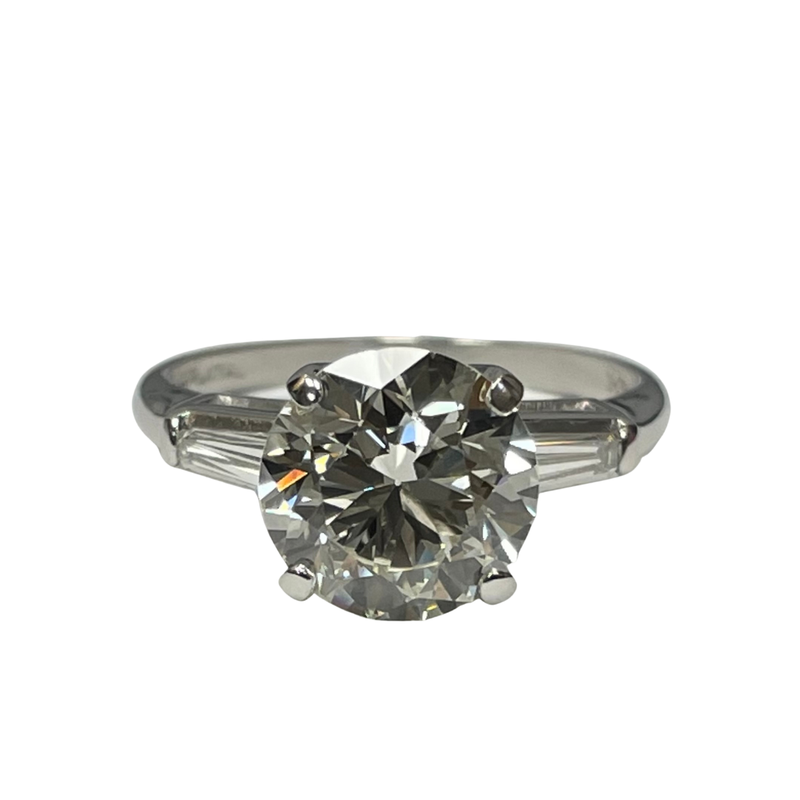 Antique, Estate & Consignment 2.71 Carat Diamond Engagement Ring