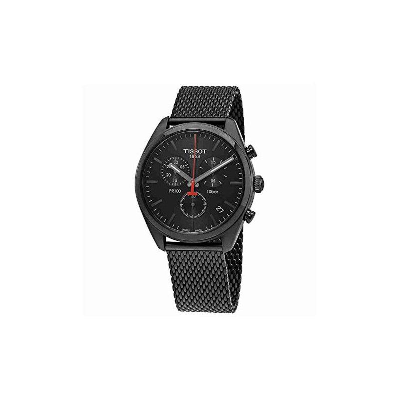 Tissot PR100 Chronograph Black Steel