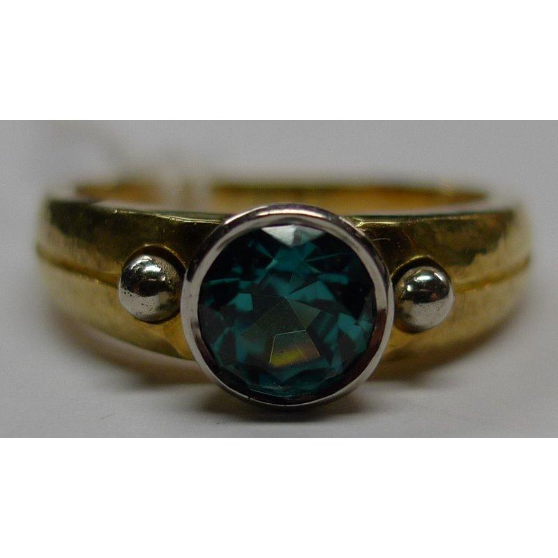 Richard Kimball Indicolite Tourmaline Ring