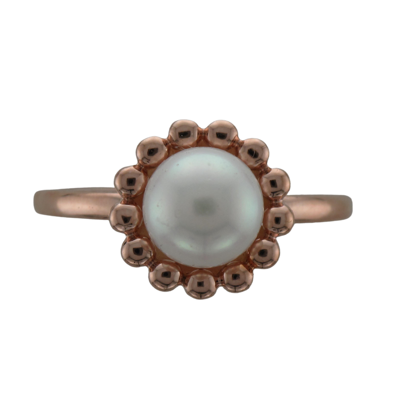 Hurdle's Jewelry Collection 14k Rose Gold Pearl Ring