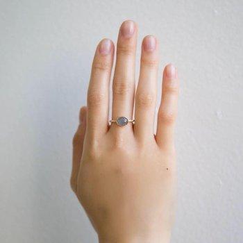 Montana Sapphire Equilibrium Ring