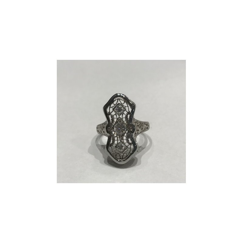 Antique, Estate & Consignment Vintage Elongated Diamond Ring