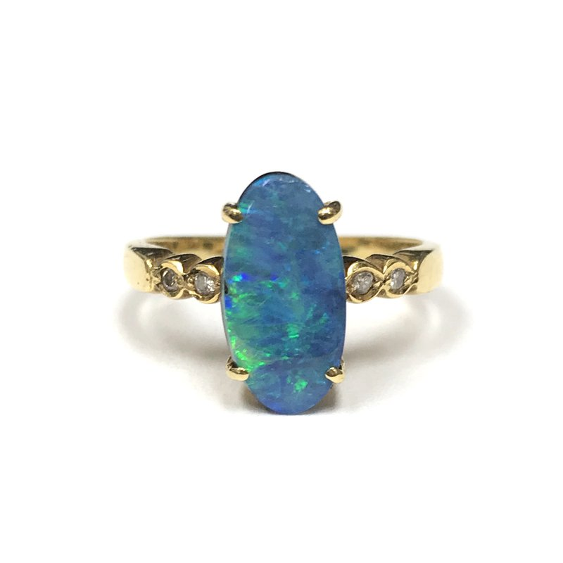 Antique, Estate & Consignment Boulder Opal Ring