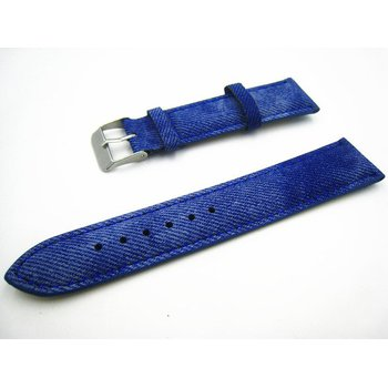 Blue Denim Leather Strap