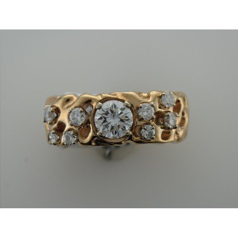 Antique, Estate & Consignment Free Form Diamond Ring