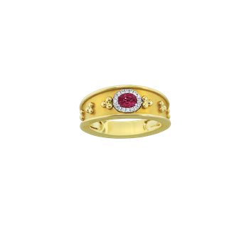 Etruscan Style Ruby Ring