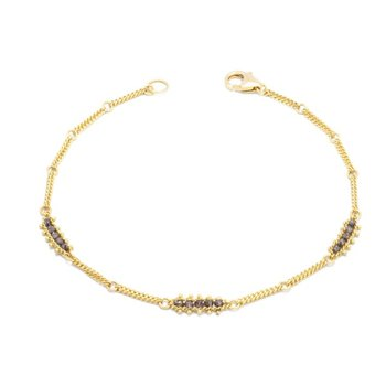Textile Station Bracelet in Champagne Diamond