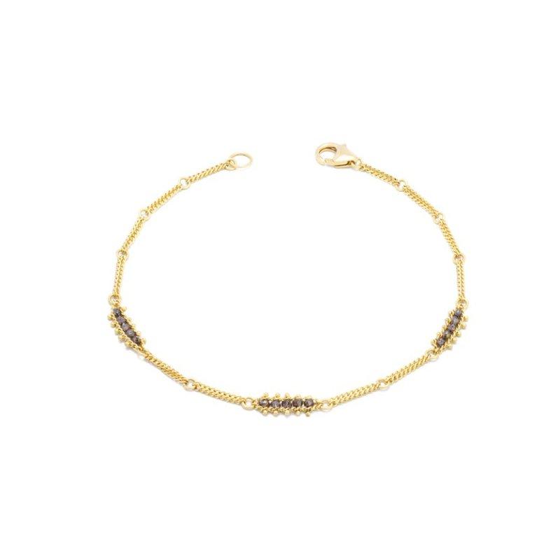 Amali Textile Station Bracelet in Champagne Diamond