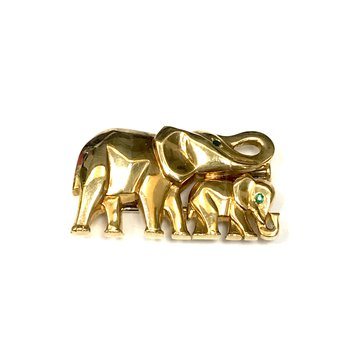 Cartier 18k Elephant Pin