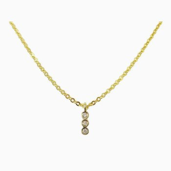 3 Bezel Diamond Necklace