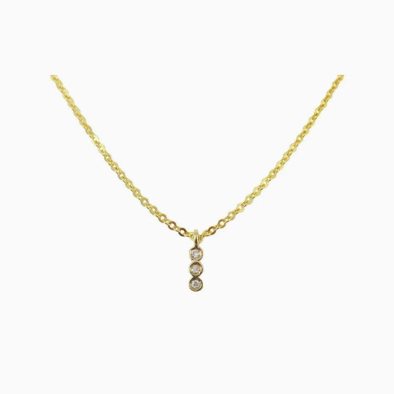 Jennie Kwon 3 Bezel Diamond Necklace