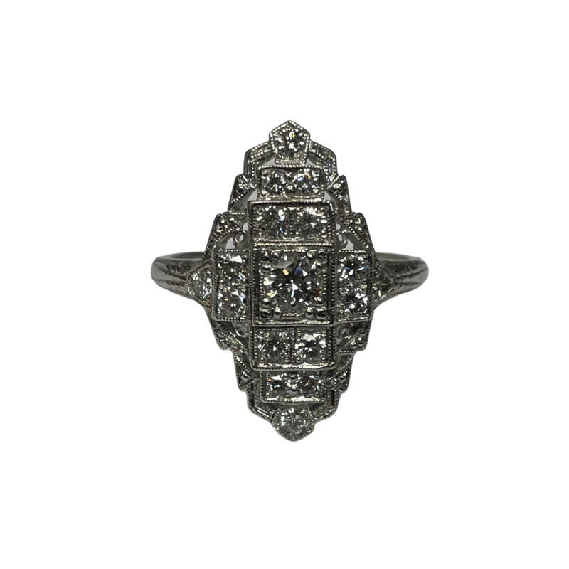 Antique, Estate & Consignment Elongated Diamond Ring